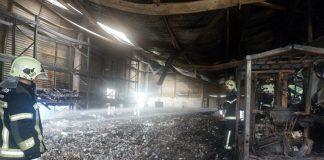 Incêndio destruiu fábrica de detergentes na Póvoa de Varzim