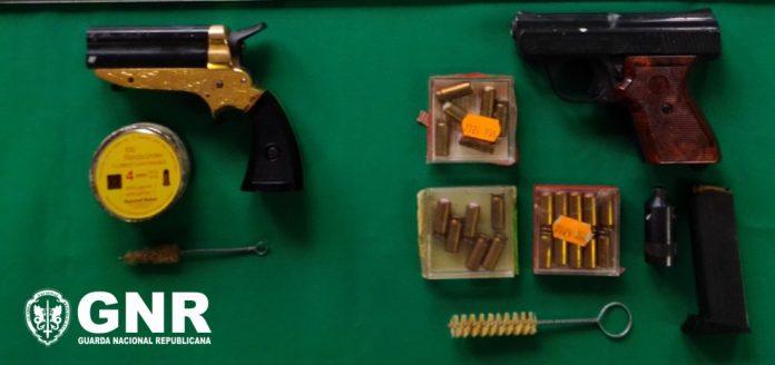 GNR apreende armas ilegais em Santo Tirso