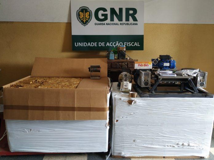 GNR desativou produção clandestina de cigarros em Santo Tirso