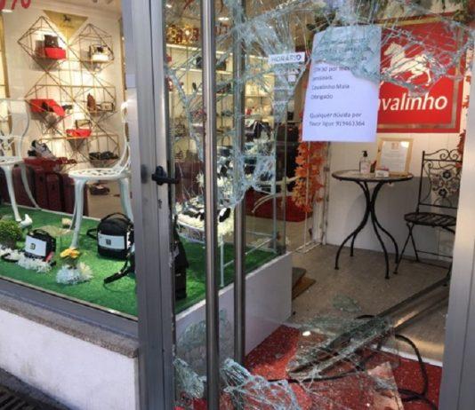 Loja assaltada pela segunda vez este ano